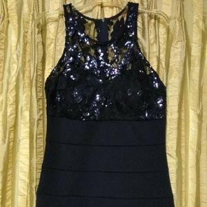 My Michelle Blue Sequin Bodycon Dress - Size 11